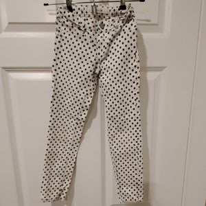 Girls joe's jeans white gray polka dot jeans 6X
